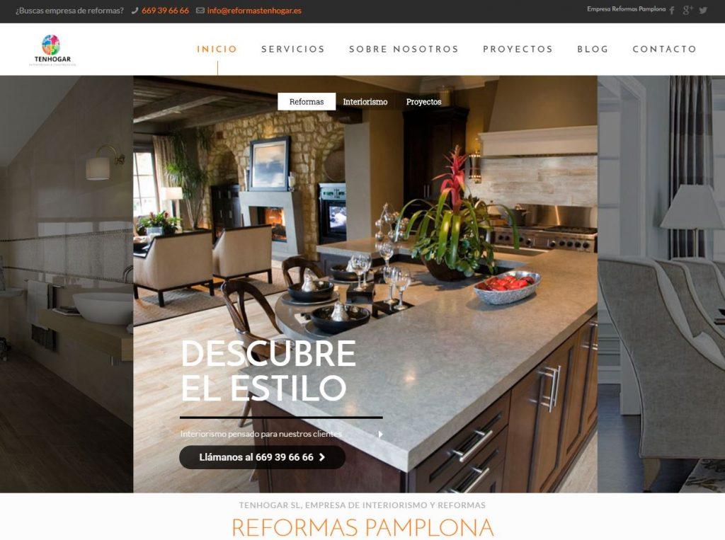 P gina web empresa de reformas e interiorismo en pamplona for Paginas de interiorismo