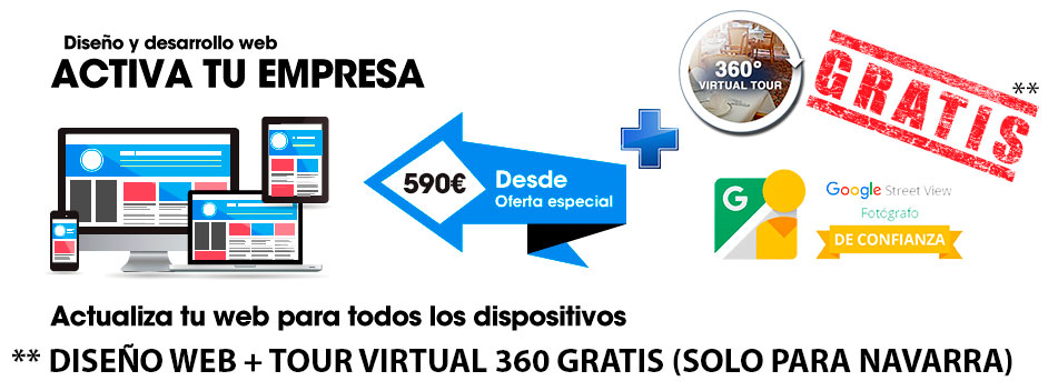 DISEÑO WEB + TOUR VIRTUAL GRATIS